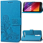 NEW Magnetic Wallet flowers PU leather stand cover case & strap #36