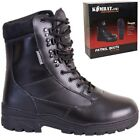 ARMY CADET LEATHER BOOTS MENS BOYS UK 3 - UK 12 WORKWEAR FOOTWEAR BLACK POLICE