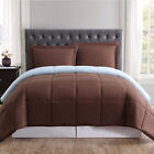 Comforters Sets - REVERSIBLE COMFORTER MICROFIBER 1 PIECE 12 DIFFERENT COLORS ALL SIZES BRAND NEW