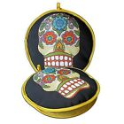 "Day of the Dead Skull Insulated Tortilla Warmer 10"" Microwave Vegetable Steamer"
