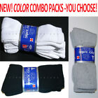 3,6,12 Pairs Diabetic CREW Circulatory Socks Health Men Women Cotton 9-11 10-13