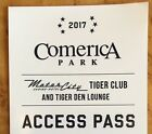 2017 DETROIT TIGERS VIP TIGER CLUB/TIGER DEN ACCESS PASS *FREE SHIP!* WOW!