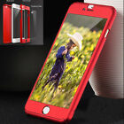 Luxury Hybrid 360° Shockproof Case Tempered Glass Cover For iPhone SE 5 6 7 Plus