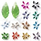 20pcs Crystal Beads Teardrop Top Drilled Loose Spacer Jewelry Makings Wholesale
