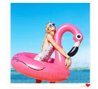Adults Kids Baby Inflatable Giant Flamingo Pool Float Ring Raft Swimming Water