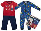 Boys PACK OF 2 Super Dude All in One Sleepsuit & Pyjamas Bedtime Set 1 - 8 Years