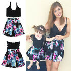 UK Family Clothes Lady's Mother Daughter Matching Summer Baby Girl Dress Outfit