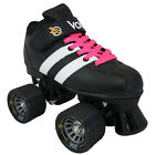 Riedell Volt Roller Skates - Quad Speed Skates - with 2 pr Laces (White & Pink)