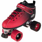 NEW! Riedell Dart 2 Tone Blk & Red Ombre Quad Roller Speed Skates Kids & Adult
