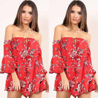 Womens Holiday Mini Playsuit Ladies Jumpsuit Summer Beach Dress Size 4 - 14