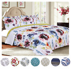 Bedspread Coverlet Quilt Set with Pillow Shams Modern 3-Piece Reversible Set
