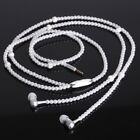 Pearl Necklace Earphones Headset with Mic Beads In-ear Earbuds Wired 3.5mm