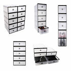 Periea Strong Plastic Shoe Organiser Drawer Draw Boxes Underbed Home Storage