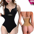 Women Boned High-Waist Trainer Tummy Control Body Shaper Thong Panty Shapewear