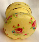 Yellow ditsy shabby chic KNOB HANDLE CUPBOARD DRAWER PULL KITCHEN DRESSING TABLE