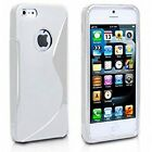 S LINE WAVE GEL SOFT CASE BACK COVER FOR iPhone 4,4s,iPhon5,5S+SCREEN PROTECTOR
