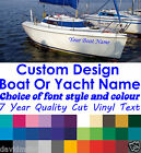 Boat & Yacht Names Self Adhesive Vinyl Marine Signs Various Size Heights