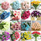 20 Styles ROSE BOUQUET FAKE SILK FLOWER PARTY HOME WEDDING FLORAL DECOR NEWLY