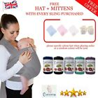 Baby Wrap Sling Stretchy Carrier Newborn Breastfeeding Breathable 0-3Yrs