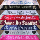Wedding, Bride To Be, Future Mrs Personalised Hen's Night Party Sash  20 Colours