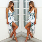 Women Summer Sleeveless Floral Evening Party Cocktail Beach Short Mini Dress #X