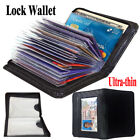 Внешний вид - LOCK WALLET Slim RFID Black Fraud Blocking Protect RFID Wallets Card Holder