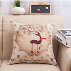 Christmas Gift Santa Claus Sofa Throw Waist Cushion Cover Pillowslip Home Decor
