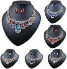 Fashion Chain Pendant Crystal Choker Chunky Statement Bib Necklace Party Jewelry