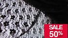 LACE Fabric Stretch Dressmaking FLORAL Polyester Width 150 Cm Flowers JERSEY