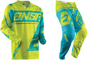 NEW ANSWER RACING SYNCRON AIR ACID CYAN ADULT RACE GEAR COMBO JERSEY PANTS MX