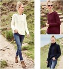 NEW NEXT LADIES CABLE KNIT SLOUCHY JUMPER CREAM NAVY BURGUNDY XS to XL