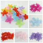 30PCS 28MM FROSTED ACRYLIC MIXED COLOURED FLOWER BEADS FIR JEWELLERY MAKING