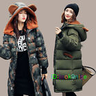 LADIES PLUS SIZE CAMOUFLAGE PADDED Military HOODED WINTER PARKA WOMENS ARMY COAT