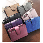 Ladies Girls Short Monochrome Wallet Coin Purse Credit Pocket Card Holder