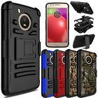 For Motorola Moto E4/G5/G6 Plus Shockproof Case With Kickstand Belt Clip Cover