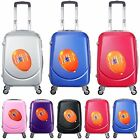 HARD CASE CABIN BAG RYANAIR 4 WHEELS SPINNER TROLLEY LUGGAGE SUITCASE HM201