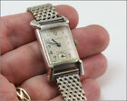 Watchmakers Estate Vintage BULOVA 10k White Gold Filled Manual Wind Watch LOT 8