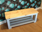 Wooden Bench Farm House Style 3 Slat Base - 5' Hand Made