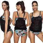 WOMEN TANKING BIKINI SET PUSH-UP PADDED SWIMSUIT BATHING SWIMWEAR-TOP QUALITY