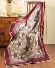 "COUNTRY PRIMITIVE 50""X60"" BARN STAR QUILTED LOOK THROW BLANKET 3 COLORS image"