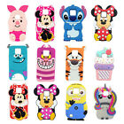 3D Cartoon Soft Silicone Rubber Case Cover For LG X CAM X Style X Power X Screen