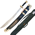 Stainless Steel Kung Fu Broadsword Dao with Scabbard and Carrying Case