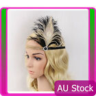 1920s Headband Feather 20s Gold Bridal Great Gatsby Flapper Headpiece gangster