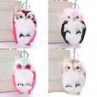 Lovely Adorable Fluffy Downy Owl Keyring Bag Charm Pendant keychain New