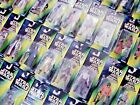 STAR WARS GREEN & RED & TRI-LOGO CARDED FIGURES - ALL MOC - SEE PHOTOS!