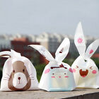 50pcs Bunny Cookies Rabbit Ear Bag Easter Candy Bag Party Wedding Supplies Decor