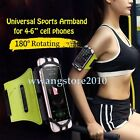 """Universal Silicone Sports Armband Gym Jogging Holster Cover for 4-6"""" Cell Phone"""