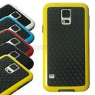 3D Carbon Fiber Pattern Hybrid TPU Plastic Cover for Samsung Galaxy S5 G900