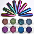 2017 Metal Chrome Nail Polish Powder Pigment Changing Colors Holographic Effect