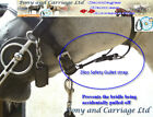 Zilco Carriage Driving Bridle Gullet Safety Strap - Pony Cob / Full Size